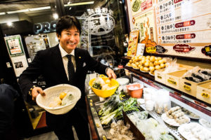 置いてある野菜を好きなだけ取って自分好みのスープ春雨が作れる「七宝」さん。 渋谷の桜ヶ丘にあります。