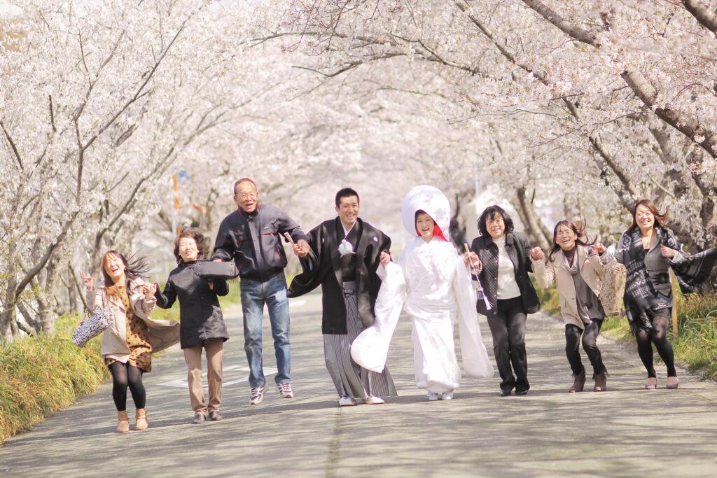 桜 ウエディングフォト